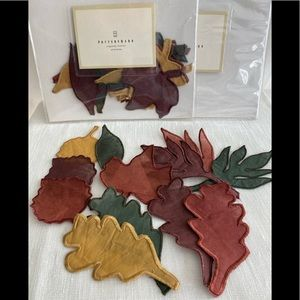 Pottery Barn Organdy Fall Leaves - 32 total